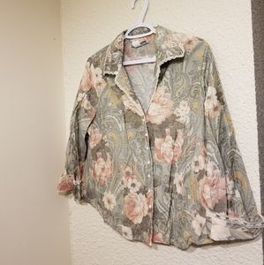 Vintage Dressbarn Faux Pearl Button-Up